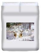 Winter Bucks Duvet Cover