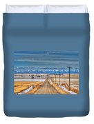 Winter Farmland Duvet Cover
