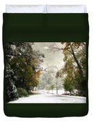 Winter In Autumn Duvet Cover