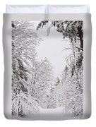 Winter Road Duvet Cover by Cheryl Baxter