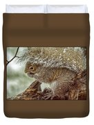 Winter Squirrel Duvet Cover