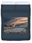 Winter Storm Duvet Cover by Cat Connor