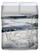 Winter Stream, Jasper National Park Duvet Cover