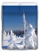 Winter View Of Snow Covered Trees Duvet Cover