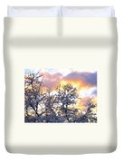 Wintry Sunset Duvet Cover