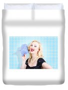 Woman Cleaner Maid  Duvet Cover