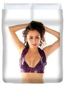 Woman Posing Duvet Cover