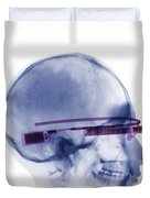Woman Wearing Google Glass X-ray Duvet Cover