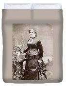 Women's Fashion, 1880s Duvet Cover