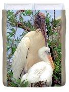 Wood Stork Mycteria Americana Duvet Cover