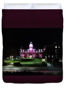 Woodburn Hall At Night Duvet Cover