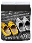 Wooden Shoes Duvet Cover