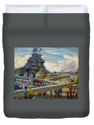 Wwii: Aircraft Carrier Duvet Cover
