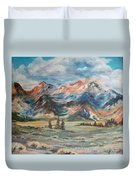 Wyoming Sunrise Duvet Cover by Jean Ann Curry Hess