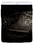 Ye Olde Bench In Bakewell Town Peak District - England Duvet Cover