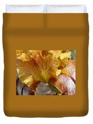 Yellow And Maroon Iris Duvet Cover
