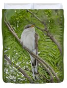 Yellow-billed Cuckoo Duvet Cover