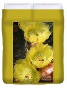 Yellow Cactus Duvet Cover