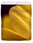 Yellow Flower Macro Duvet Cover