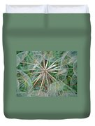 Yellow Goat's Beard Wildflower Seed Head - Tragopogon Dubius Duvet Cover