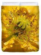 Yellow Iceland Poppy Duvet Cover