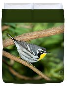 Yellow-throated Warbler Duvet Cover