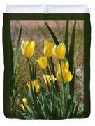 Yellow Tulips At The Arboretum Duvet Cover