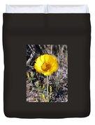 Yellow Wildflower Duvet Cover
