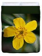 Yellow Wood Anemone Duvet Cover