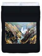 Yellowstone Canyon Yellowstone Np Duvet Cover