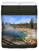Yellowstone Park - Geyser Duvet Cover