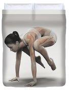Yoga Crane Pose Duvet Cover