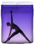 Yoga Triangle Pose Duvet Cover