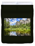 Yosemite Merced River Rafting Duvet Cover