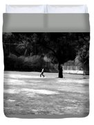 Young Boys Playing Cricket In A Park Near Delhi Zoo Duvet Cover