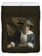 Young Girl With A Flute Duvet Cover