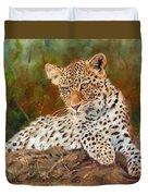 Young Leopard Duvet Cover