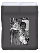 Young Monks Bw Duvet Cover