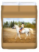 Young Rider Duvet Cover