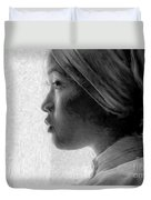 Young Woman In Turban Duvet Cover