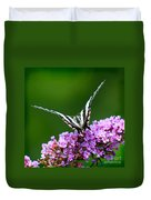 Zebra Swallowtail Butterfly Square Duvet Cover
