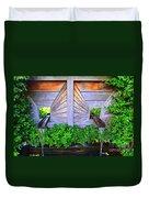 Zen Garden Fountain  Duvet Cover