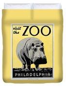 Zoo Poster C1936 Duvet Cover