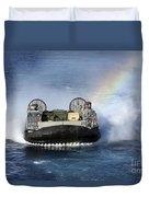 A Landing Craft Air Cushion Transits Duvet Cover