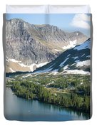 A Man Stand Up Paddle Boards Sup Duvet Cover