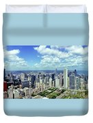 Aerial View Of A City, Chicago, Cook Duvet Cover