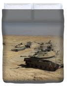 An Israel Defense Force Merkava Mark Iv Duvet Cover