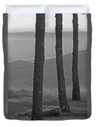 Blue Ridge Mountains - Virginia Bw 8 Duvet Cover