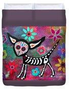 Chihuahua Dia De Los Muertos Duvet Cover