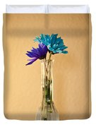 Daisies In A Vase On Shelf Duvet Cover